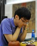 韩国选手朴廷桓在比赛中
