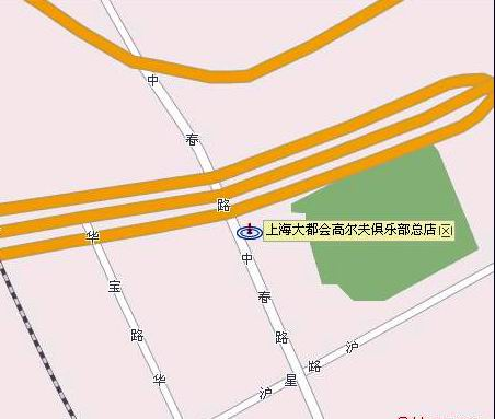 上海大都会高尔夫俱乐部路线图
