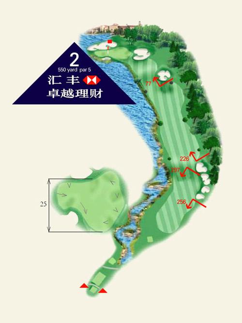 上海佘山国际高尔夫俱乐部第2洞介绍