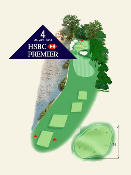 上海佘山国际高尔夫俱乐部第4洞介绍