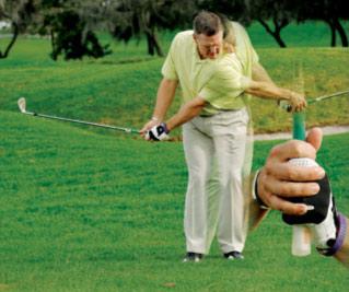 球技-三重握杆方式防右手主导下杆并限制速度