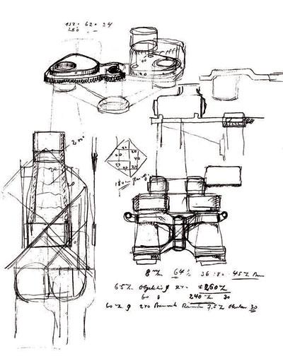 经年久远的望远镜设计草图图片