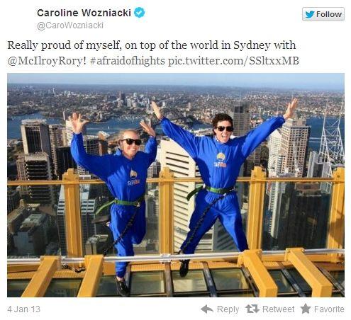 麦克罗伊与沃兹尼亚奇在高塔跳跃