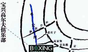 北京宝兴高尔夫俱乐部位置图示