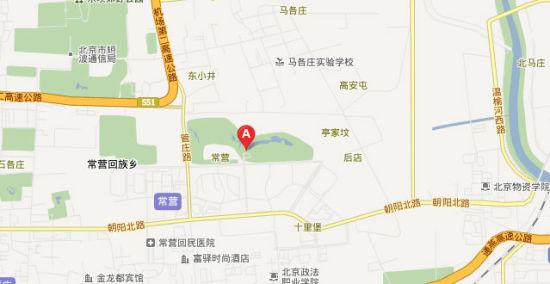 北京叠泉国际高尔夫俱乐部位置图示