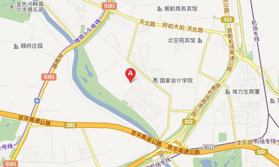 北京丽宫体育公园位置图示