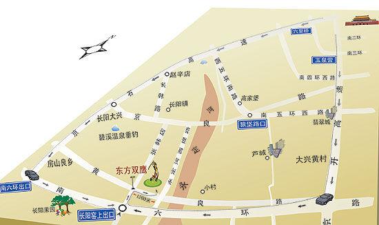 北京东方双鹰高尔夫俱乐部位置图示