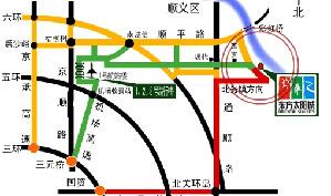 北京东方太阳城高尔夫俱乐部位置图示