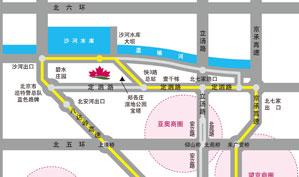 北京红枫湖高尔夫俱乐部位置图示