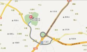 鹤山高尔夫乡村俱乐部位置图示