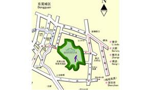 东莞峰景高尔夫球会位置图示