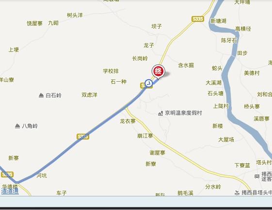 揭西京明绿茵运动场位置图示