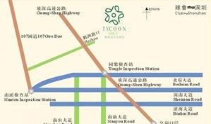 深圳聚豪会高尔夫俱乐部位置图示