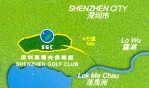 深圳高尔夫俱乐部位置图示