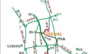 深圳光明高尔夫球会位置图示