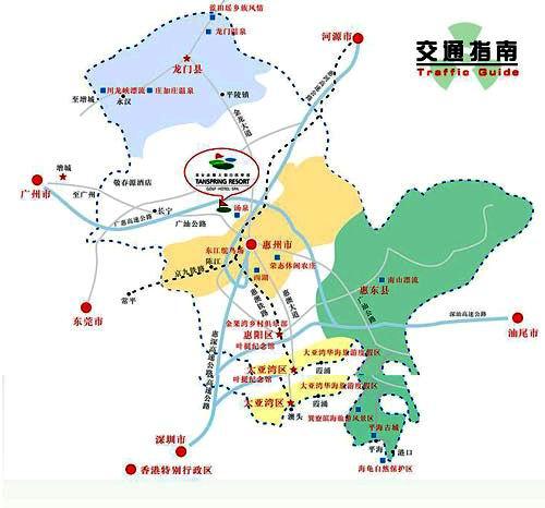 广东汤泉高尔夫假日俱乐部位置图示
