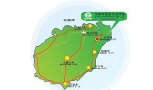 海南文昌高尔夫球会位置图示