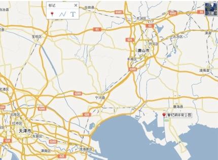 曹妃湖体育公园位置图示