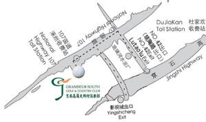 京南乡村高尔夫俱乐部位置图示