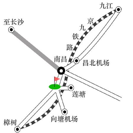 江西南昌翠林高尔夫俱乐部位置图示