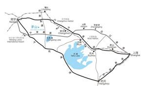 江苏金沙湾高尔夫俱乐部位置图示