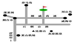 烟台高尔夫俱乐部位置图示