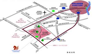 上海天马乡村俱乐部位置图示