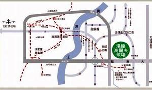 汤臣上海浦东高尔夫俱乐部位置图示
