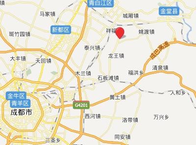 四川成都北麓乡村高尔夫俱乐部位置图示