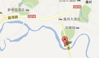 西双版纳滨江果园球会(已取缔)位置图示