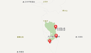 玉龙雪山高尔夫俱乐部位置图示
