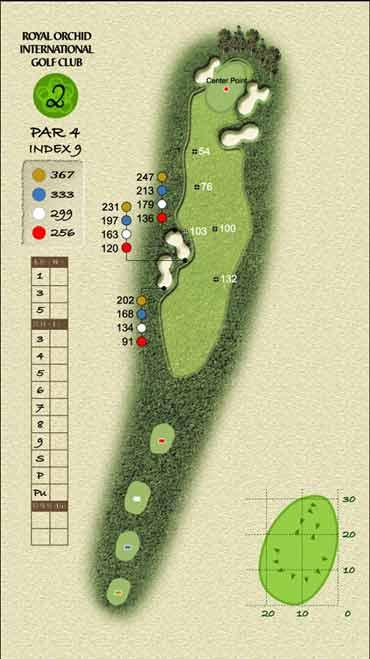 图文-君兰国际高尔夫球场毫不费力的第二洞
