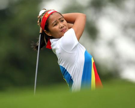 图文-女子高尔夫世界杯首轮菲律宾罗萨丽斯