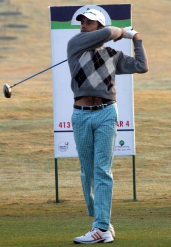 图文-印度钢铁公开赛第二轮印度选手兰德哈瓦