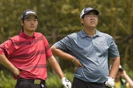 图文-昆明锦标赛决赛轮两位小将同组