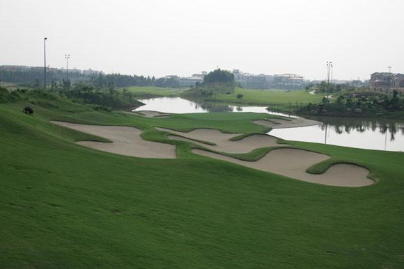 图文-假日半岛高尔夫球会美景7号洞果岭区