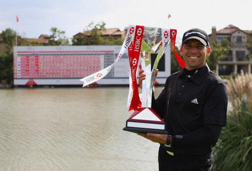 图文-汇丰冠军赛颁奖典礼28岁的西班牙人