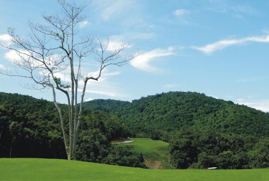 新浪体育讯 林海谷高尔夫球俱乐部位于三亚市田独镇甘什岭热带动植物森林旅游区,由三亚兰海集团等多家实力雄厚的集团公司共同投资开发。   甘什岭热带动植物森林旅游区气候宜人,常年气温比三亚低5-8度,是国家级自然保护区,有世界上稀有的动植物、素有绿色宝库之称。   林海谷高尔夫球俱乐部致力于打造一个热带雨林原生态、森林、山地、海景、纯会员制的高尔夫俱乐部,球场充分展现了当地的淳朴、自然和生态风情。   球场位置:三亚市田独镇甘什岭热带动植物森林旅游区   行车路线:海南东线高速公路三亚出口往五指山方向1