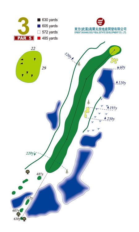 图文-武汉东方高尔夫俱乐部第3号洞Par5