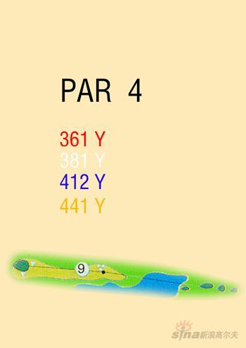 图文-海南南燕湾高尔夫球场攻略图9号洞球道