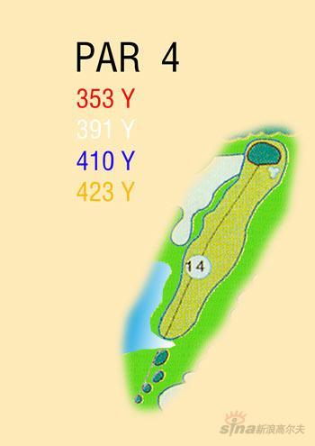 图文-海南南燕湾高尔夫球场攻略图14号洞球道