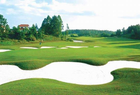 图文-肇庆高尔夫篮球风景第七号洞_v图文体育球道打板教学图片