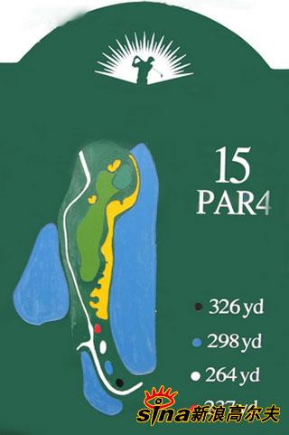图文-金山国际高尔夫俱乐部A区球道15号洞PAR4