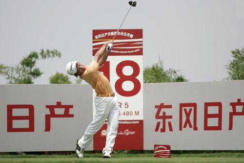 图文-东风天籁公开赛次轮小将韩韧次轮发挥稳定