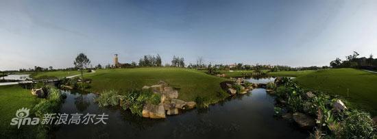 图文-成都观岭高尔夫球场得天独厚的自然环境