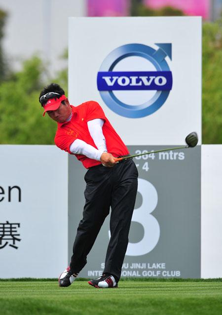 图文-VOLVO中国公开赛第三轮韩国选手梁容银领先