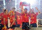 西班牙夺冠游行