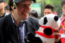 斯诺克众星参观熊猫基地