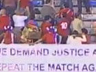 视频-拒绝看球要求重赛 3万球迷现场奇招抗议FIFA
