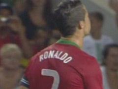 视频-C罗禁区外弧线球攻门 荷兰门将飞身横扑